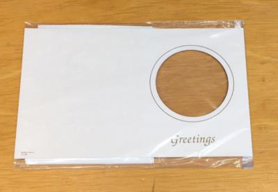 OPEN FACED GREETING CARD